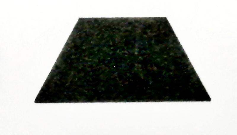 """梯形截面孔得到的焊膏堆积是一个梯形""""砖""""的形状"""