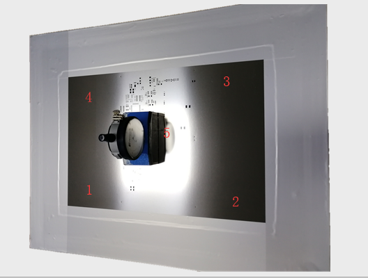 smt钢网张力检测五个点位置
